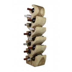 Range-bouteilles en bois exotique - casier pour 12 bouteilles design - objet décoratif naturel chic- KUALA03