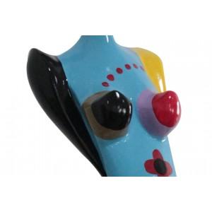 Statue femme multicolore en résine H89 cm design contemporain - artisanal - zoom produit - DANA