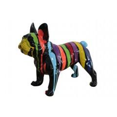 statuette chien multicolore en résine H41 cm - MUFFIN