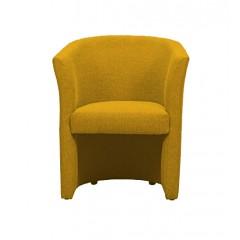 Fauteuil cabriolet en tissu jaune moutarde - LILOU