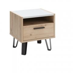 Table de chevet 1 tiroir finition chêne - VITRUS