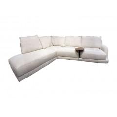 Canapé d'angle gauche avec tablette en bois - OPERA