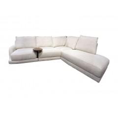 Canapé d'angle droit avec tablette en bois - OPERA