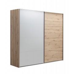 Armoire texturée chêne Artisan 2 portes coulissantes - VITRUS
