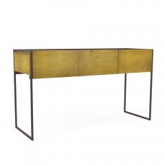 Console 3 tiroirs bois massif et métal - NORDIK