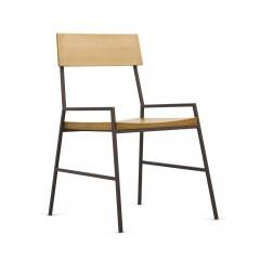 Chaise en bois de pin et métal - NORDIK