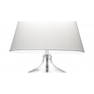 Lampe à poser en verre transparent - zoom abat jour - CLEAR