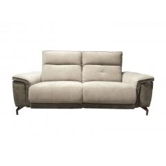 Canapé relax gris 2,5 places en tissu - MITCH