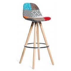 Chaise de bar avec motif patchwork - FIRST