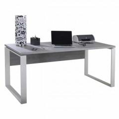 Bureau décor gris béton et pied en métal L170 cm - OFFICIO