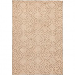 Tapis beige rectangulaire 60x90 design ethnique - SAFAR