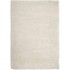 Tapis rectangulaire 160x230 blanc écru à poils longs - KRIS