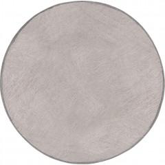 Tapis rond 150 cm gris givré fausse fourrure - DALLAS