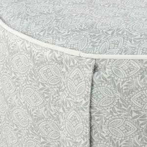 Pouf rond en tissu gris à motifs gonflable - assise d'appoint intérieur extérieur - zoom produit - CAPRICE