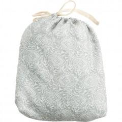 Pouf rond en tissu gris à motifs gonflable - assise d'appoint intérieur extérieur - pochette - CAPRICE