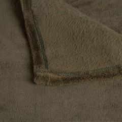 Plaid vert 230x250 texture polaire douce - zoom produit belle qualité - ROBIN