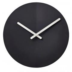 Horloge murale fantaisie silencieuse en fer noir diamètre 25 cm aiguilles métal blanc - Minimaliste - ANOR