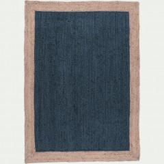 Tapis rectangulaire 160x230 cm en jute naturelle et teinté - NAIA