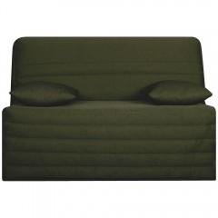 Housse de banquette BZ 140 cm en tissu vert matelassé confortable - ZAG