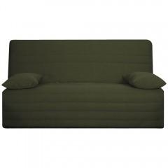 Housse de banquette BZ 160 cm en tissu vert matelassé confortable - ZAG