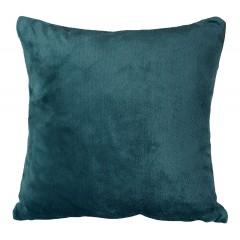 Grande housse de coussin carrée bleue effet polaire 65x65 cm - ROBIN