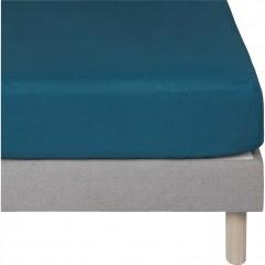 Drap housse enfant bleu en lin lavé  90x140 - VENCE