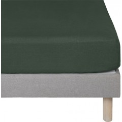 Drap housse enfant vert en lin lavé  90x140 - VENCE