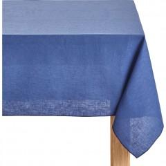 Nappe bleu en tissu lin et coton rectangulaire 170x250 - NOLA