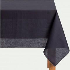 Nappe bleu violet  tissu lin et coton rectangulaire 170x250 -MILA