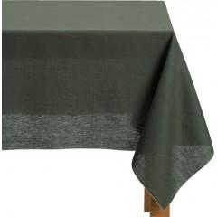Nappe verte en tissu en lin et coton carré 170x170 - MILA