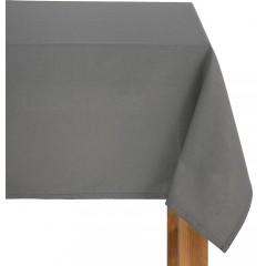 Nappe grise carrée en tissu coton 145x145 - VENASQUE