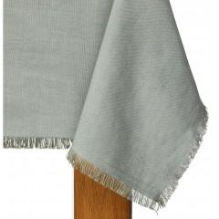 Nappe vert de gris rectangulaire en lin et coton 250x170 - CASTILLON