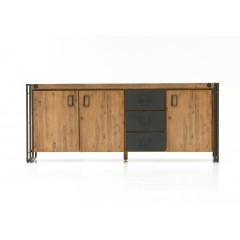 Buffet design industriel 3 portes / 3 tiroirs - ATELIER