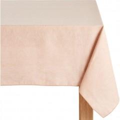 Nappe rose en tissu lin et coton carrée 170x170 - NOLA