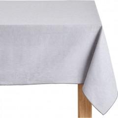 Nappe gris en tissu lin et coton rectangulaire 170x300 - NOLA