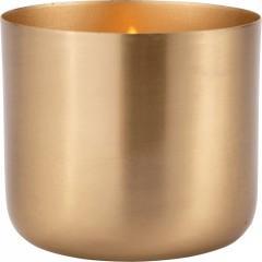 Bougie coupelle doré H.9 cm - EPSILON