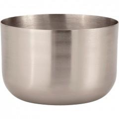 Bougie coupelle argenté H.6,5 cm - EPSILON