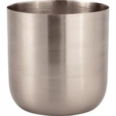 Bougie coupelle argenté H.9 cm - EPSILON