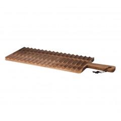 Planche à pain striée en bois d'acacia longueur 55 cm - PACAN