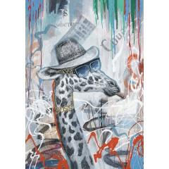 Peinture sur toile cadre décoratif décoratif girafe - GIRFOU