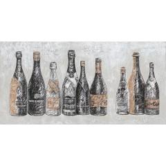 Peinture sur toile cadre décoratif vielles bouteilles - ERIK