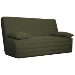 Housse de banquette clic clac 130 cm en tissu vert olive matelassé confortable - ZAG