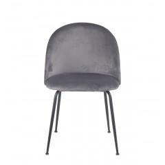Chaise design en velours dossier capitonné - CLEA