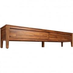 Banc bout de lit en acacia avec 2 tiroirs - THAO 946