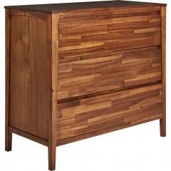 Commode 3 tiroirs en bois d'acacia - THAO