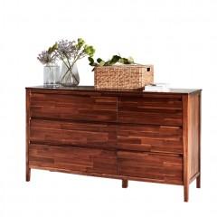 Commode 6 tiroirs en bois d'acacia - THAO