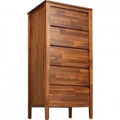 Chiffonnier 4 tiroirs avec miroir en bois d'acacia - THAO