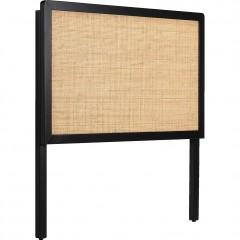 Tête de lit en bois noir et cannage de rotin - GALANT 500