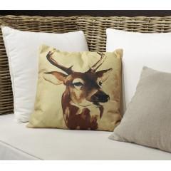 Coussin carré 40 cm en tissu déhoussable imprimé animal - PWJA