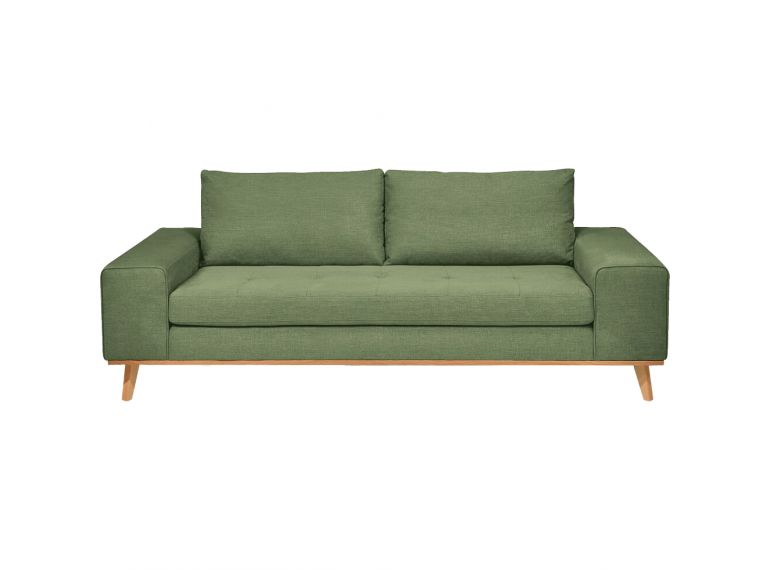 Canapé 3 places en tissu avec pieds en bois style scandinave - PICABIA 950